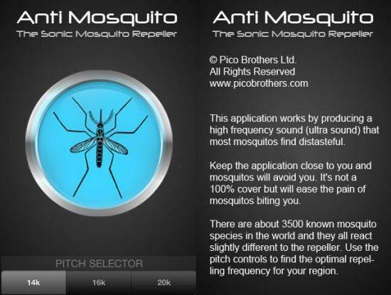 Ứng dụng đuổi muỗi trên thiết bị di động